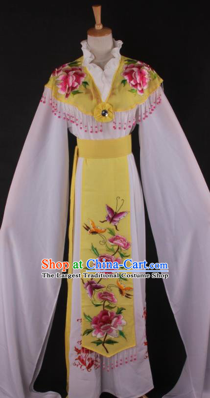 Professional Chinese Beijing Opera Princess Yellow Dress Ancient Traditional Peking Opera Diva Costume for Women