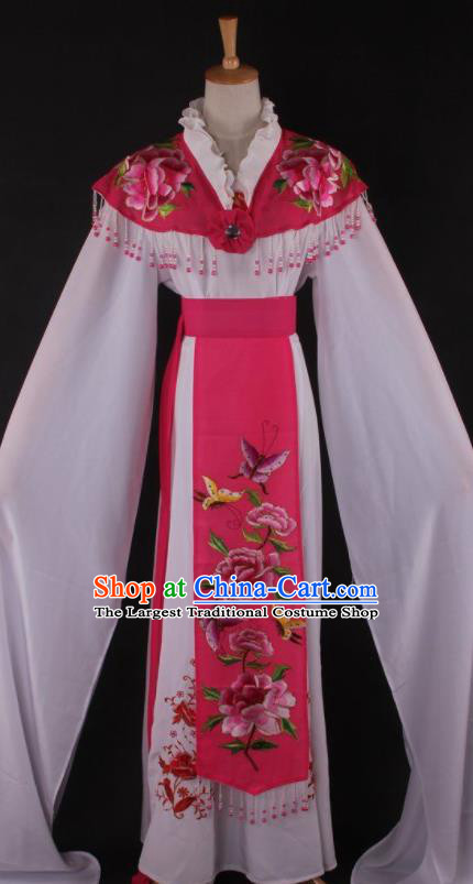Professional Chinese Beijing Opera Princess Rosy Dress Ancient Traditional Peking Opera Diva Costume for Women