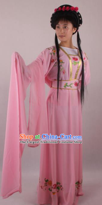 Professional Chinese Beijing Opera Fairy Pink Dress Ancient Traditional Peking Opera Diva Costume for Women
