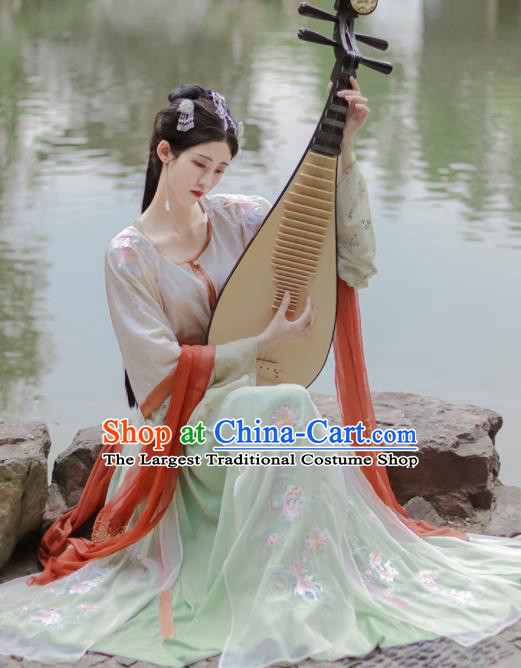 Chinese Ancient Flying Fairy Hanfu Dress Traditional Tang Dynasty Court Lady Replica Costumes for Women