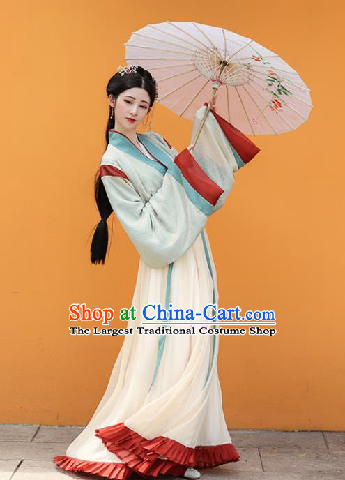 Chinese Ancient Drama Hanfu Dress Traditional Jin Dynasty Court Princess Replica Costumes for Women