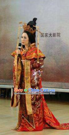 Chinese Beautiful Dance Xi Shi Queen Costume Traditional Drama Classical Dance Competition Dress for Women