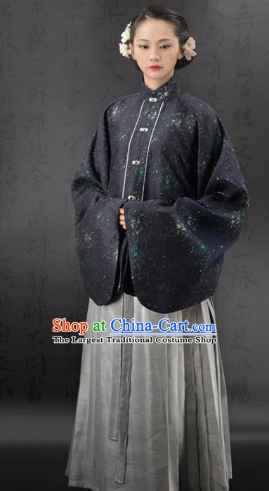 Chinese Traditional Ming Dynasty Countess Replica Costumes Ancient Young Mistress Hanfu Dress for Women