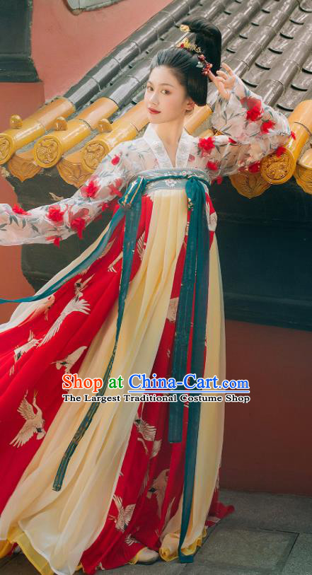 Traditional Chinese Tang Dynasty Court Maid Hanfu Dress Ancient Imperial Consort Replica Costumes for Women