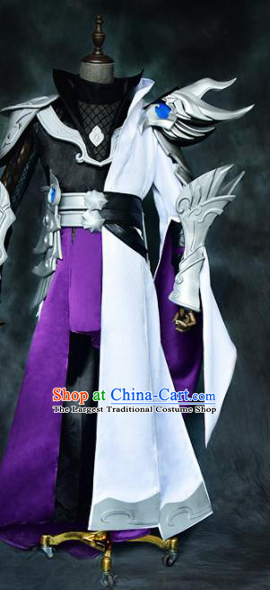 Chinese Ancient Drama Cosplay General Armor Clothing Traditional Hanfu Swordsman Costume for Men