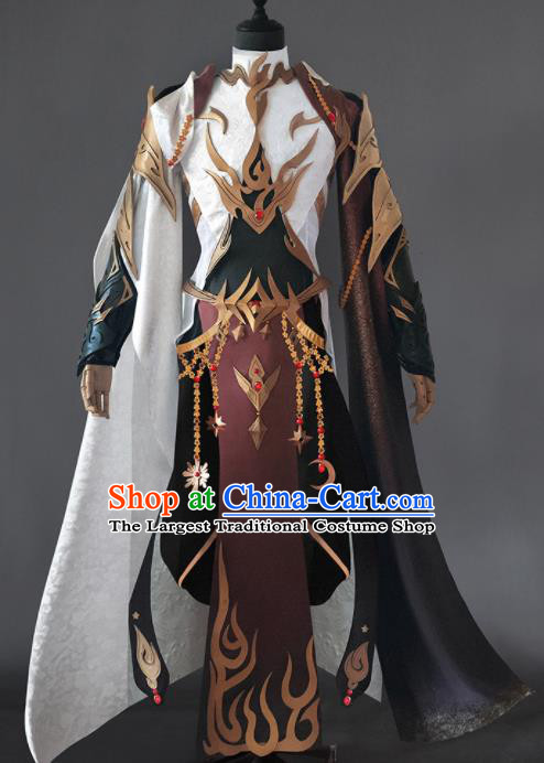 Chinese Ancient Drama Cosplay Royal Highness General Armor Clothing Traditional Hanfu Swordsman Costume for Men