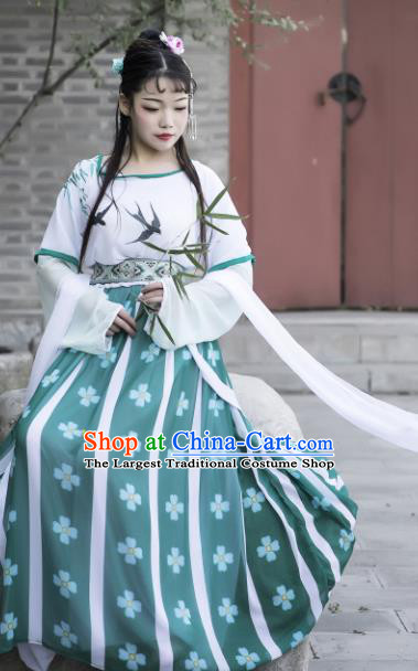 Chinese Ancient Cosplay Fairy Court Maid Dress Traditional Hanfu Princess Costume for Women