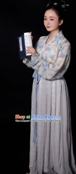 Traditional Chinese Song Dynasty Maidservants Hanfu Dress Ancient Drama Young Lady Replica Costumes for Women