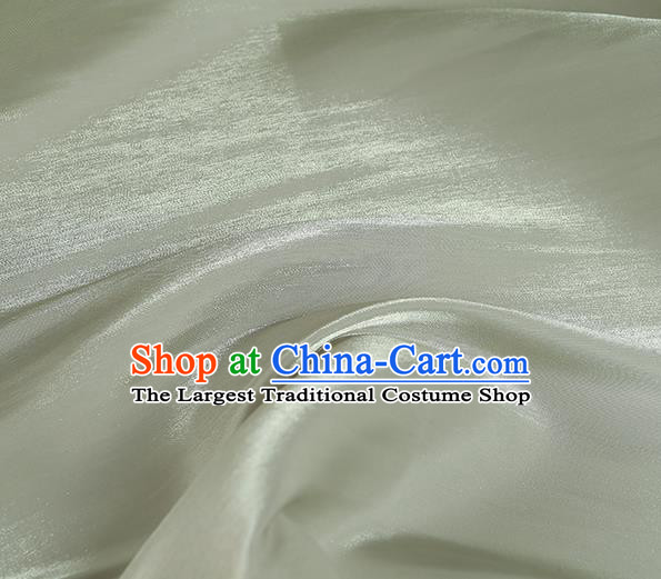 Chinese Traditional Classical Pattern Design Light Green Imitated Silk Fabric Asian China Cheongsam Silk Material
