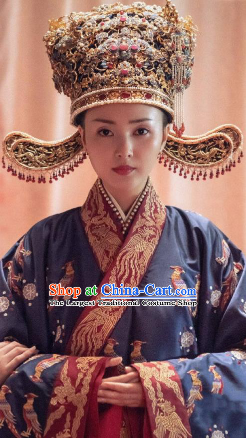 Drama Royal Nirvana Chinese Ancient Song Dynasty Crown Princess Zhang Nianzhi Replica Costumes and Headpiece Complete Set