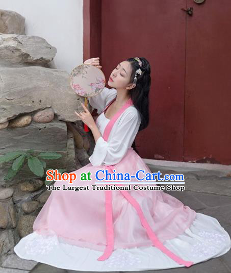 Chinese Traditional Song Dynasty Maidservant Costumes Ancient Female Civilian Hanfu Dress for Women