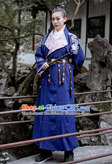 Chinese Traditional Tang Dynasty Female Swordsman Costumes Ancient Drama Imperial Bodyguard Hanfu Dress for Women