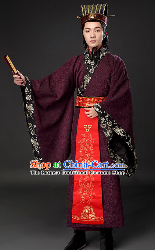 Chinese Ancient Scholar Clothing Traditional Han Dynasty Nobility Costumes for Men