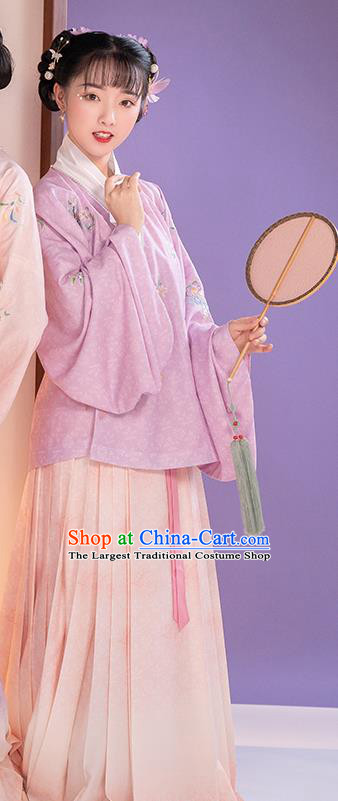 China Ming Dynasty Patrician Lady Hanfu Clothing Nobility Infanta Embroidered Costumes Ancient Apparels