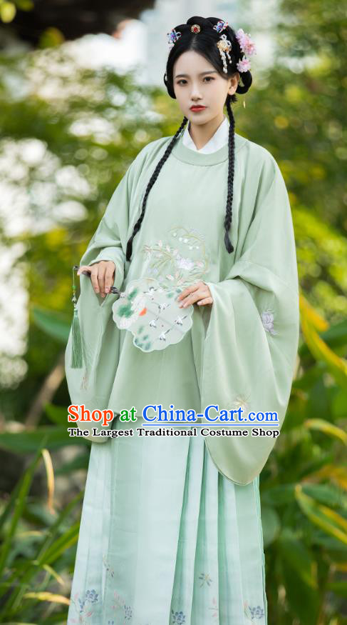 China Ancient Noble Female Clothing Traditional Ming Dynasty Patrician Lady Hanfu Blouse and Skirt for Women