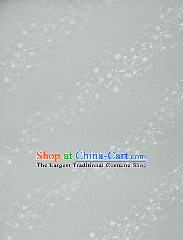 Chinese Classical Jacquard Pattern Design White Mulberry Silk Fabric Asian Traditional Cheongsam Silk Material