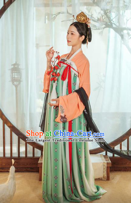 Chinese Ancient Drama Palace Lady Hanfu Dress Traditional Tang Dynasty Court Maid Costumes for Women