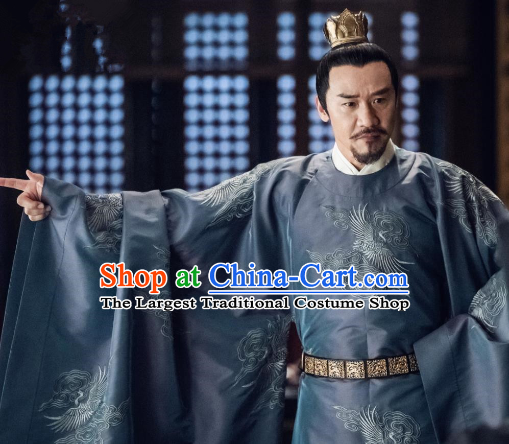 Traditional Drama Royal Nirvana Chinese Song Dynasty Emperor Xiao Ruijian Clothing Ancient Imperator Costume for Men