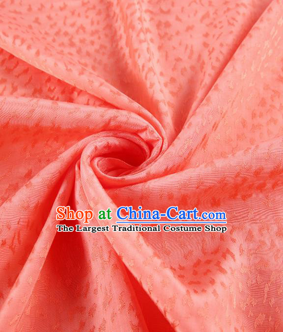 Chinese Traditional Classical Leopard Pattern Orange Cotton Fabric Imitation Silk Fabric Hanfu Dress Material