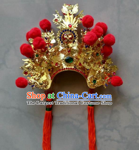 Chinese Traditional God Statue Hat Taoism Jade Emperor Headwear