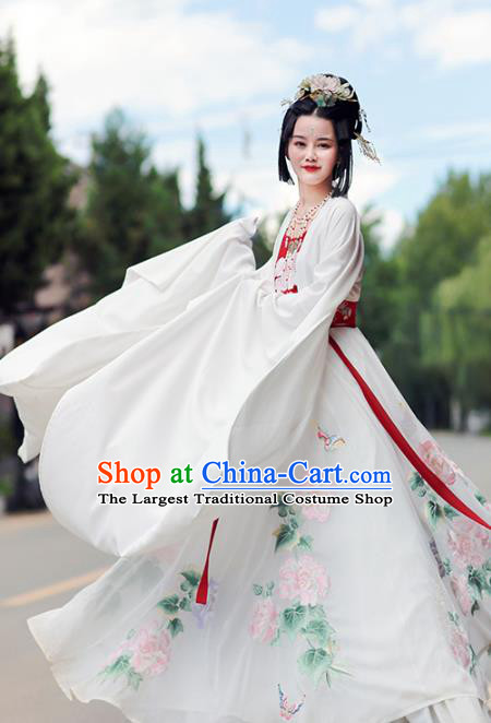 Traditional Chinese Jin Dynasty Imperial Consort Hanfu Dress Ancient Palace Lady Goddess Costumes for Women