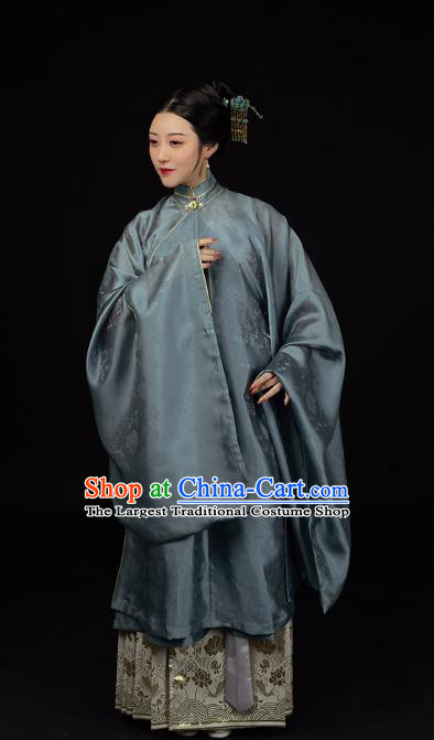 Traditional Chinese Ming Dynasty Countess Historical Costumes Ancient Patrician Mistress Hanfu Dress for Women