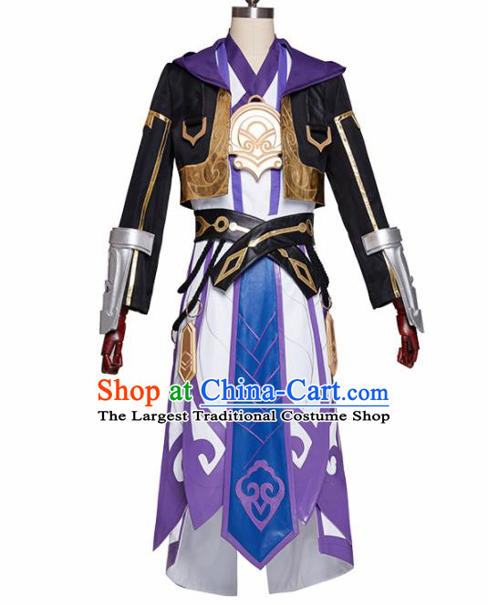 Chinese Traditional Cosplay Monkey King Sun Wukong Clothing Ancient Swordsman Costumes for Men