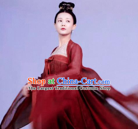 Chinese Ancient Patrician Lady Drama Royal Nirvana Lu Wenxi Replica Costumes and Headpiece for Women