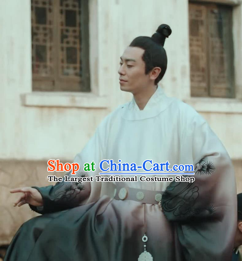 Chinese Ancient Drama Ming Dynasty Crown Prince Zhu Zhanji Replica Costumes for Men