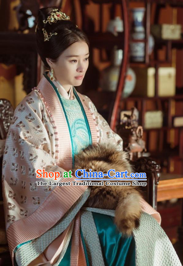 Empress of the Ming Chinese Ancient Drama Ming Dynasty Crown Princess Zhang Yan Replica Costumes and Headpiece Complete Set