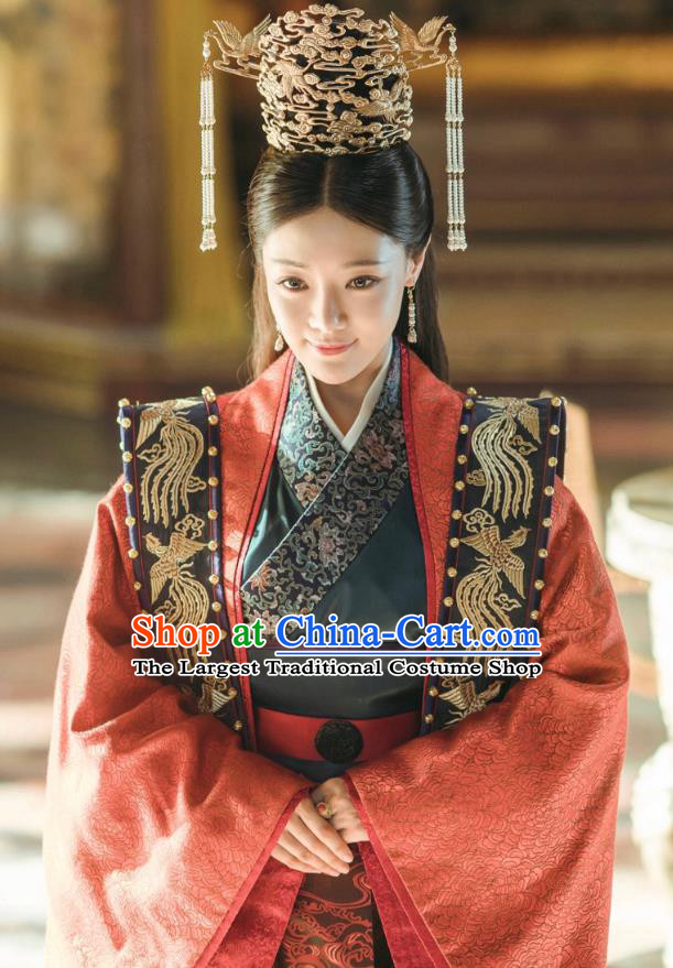 Drama Empress of the Ming Chinese Ancient Ming Dynasty Crown Princess Hu Shanxiang Replica Costumes and Headdress Complete Set