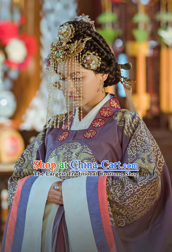 Drama Empress of the Ming Chinese Ancient Korean Princess Replica Costumes and Headpiece Complete Set