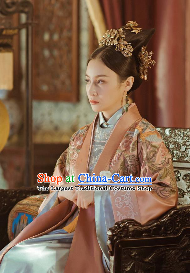 Drama Ming Dynasty Chinese Ancient Rani Princess of Han Replica Costumes and Headpiece Complete Set