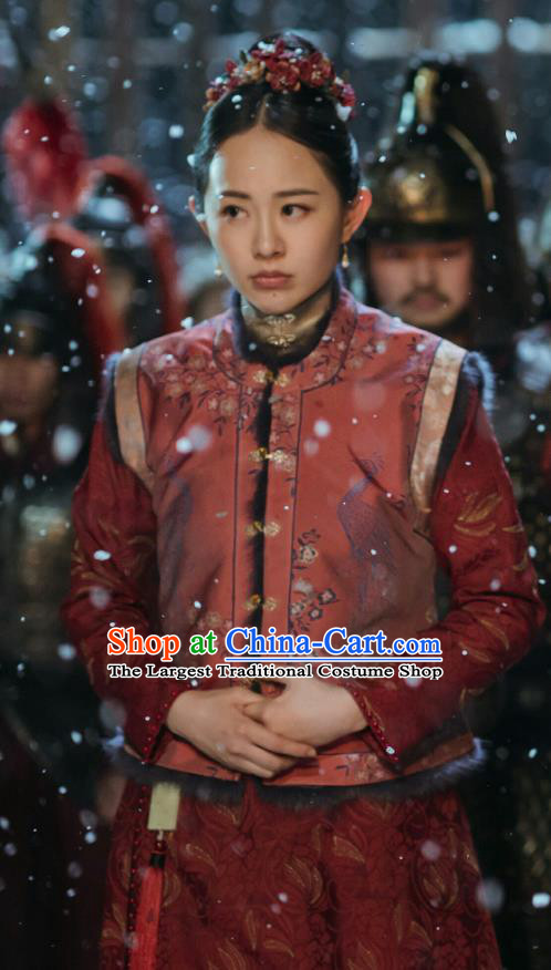 Drama Ming Dynasty Chinese Ancient Court Maid Replica Costumes and Headpiece Complete Set