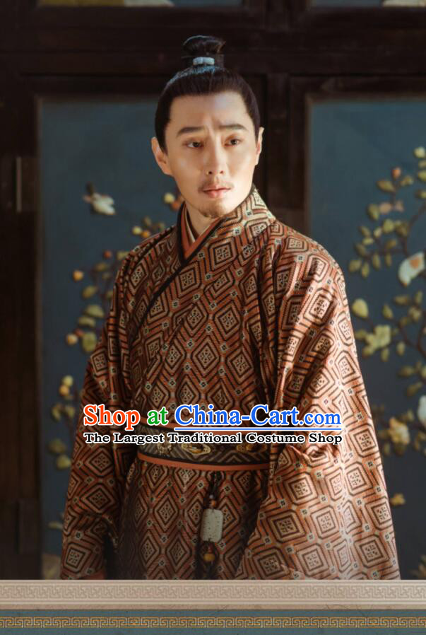 Ancient Chinese Drama Ming Dynasty Jingtai Emperor Zhu Qiyu Replica Costumes for Men