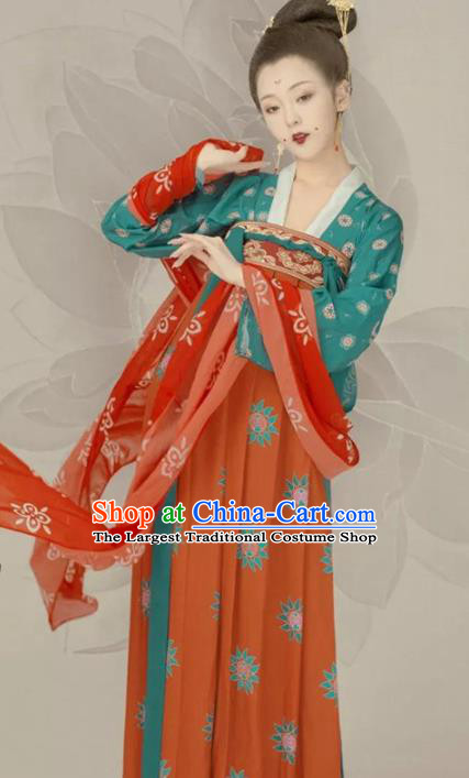 Traditional Chinese Tang Dynasty Court Maid Hanfu Dress Ancient Palace Lady Replica Costumes for Women
