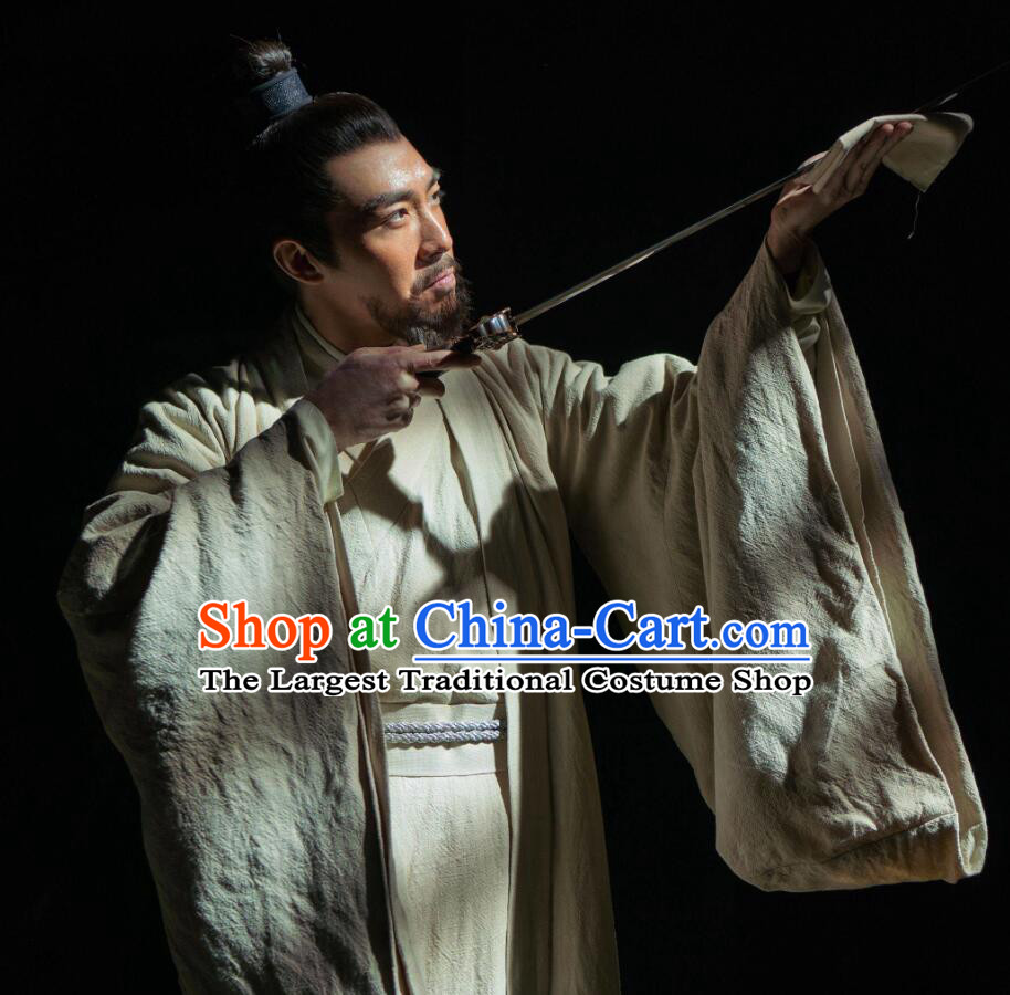 Chinese Ancient Drama Ming Dynasty Prince of Han Zhu Gaoxu Costume and Headpiece Complete Set