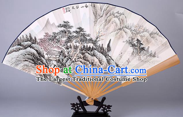 Traditional Chinese Handmade Ink Painting Autumnal Scenery Paper Folding Fan China Accordion Fan Oriental Fan