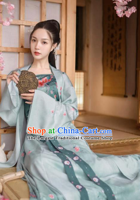 Traditional Chinese Ancient Young Lady Hanfu Dress Song Dynasty Civilian Female Historical Costumes for Women
