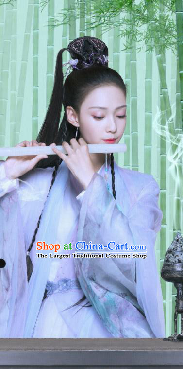 Chinese Drama Love Better Than Immortality Ancient Princess Leng Ning Historical Costume and Headpiece for Women