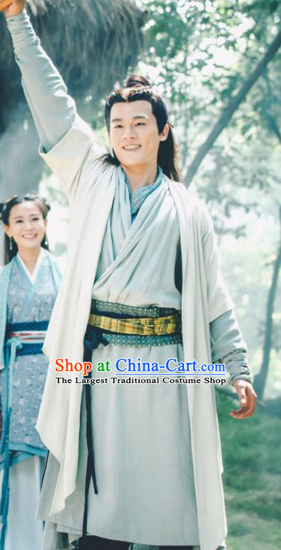 Drama Hero Dream Chinese Ancient Han Dynasty Counselor Han Xin Costume and Headpiece Complete Set
