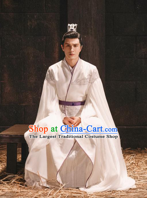 Chinese Ancient Emperor Song Xuanren Drama Sansheng Sanshi Pillow Eternal Love of Dream Costume and Headpiece Complete Set