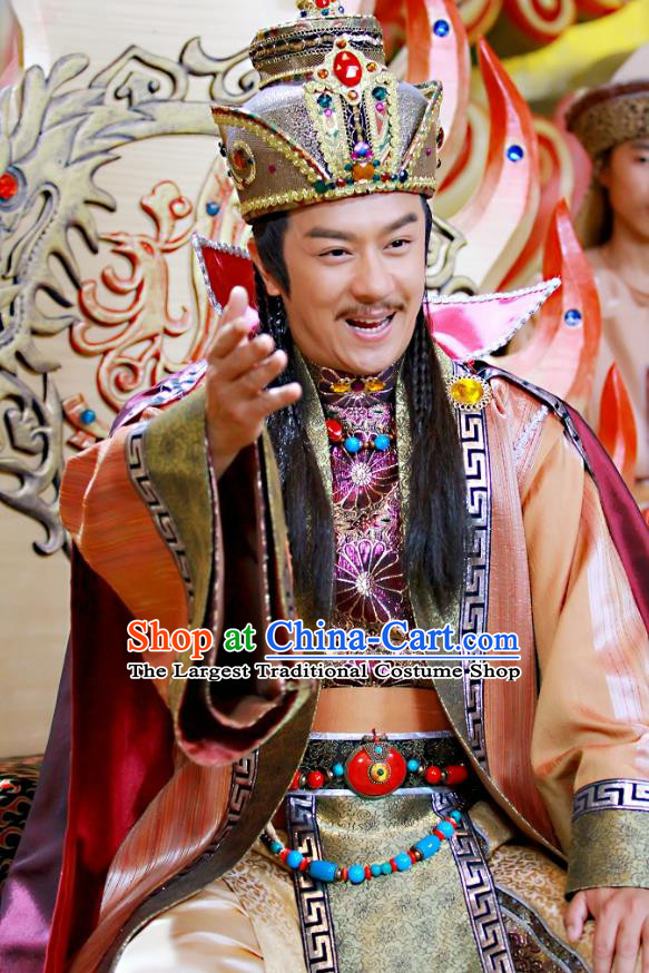 Chinese Ancient Lord Xiliang Clothing and Hat Drama Love Amongst War King Xue Pinggui Costumes