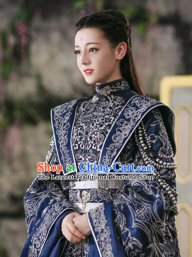 Chinese Ancient Queen Drama Sansheng Sanshi Pillow Eternal Love of Dream Bai Fengjiu Wedding Costumes Complete Set