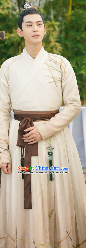 Chinese Ancient Swordsman Apparels Garment and Hairdo Crown Drama To Get Her Prince Tu Siyi Costumes