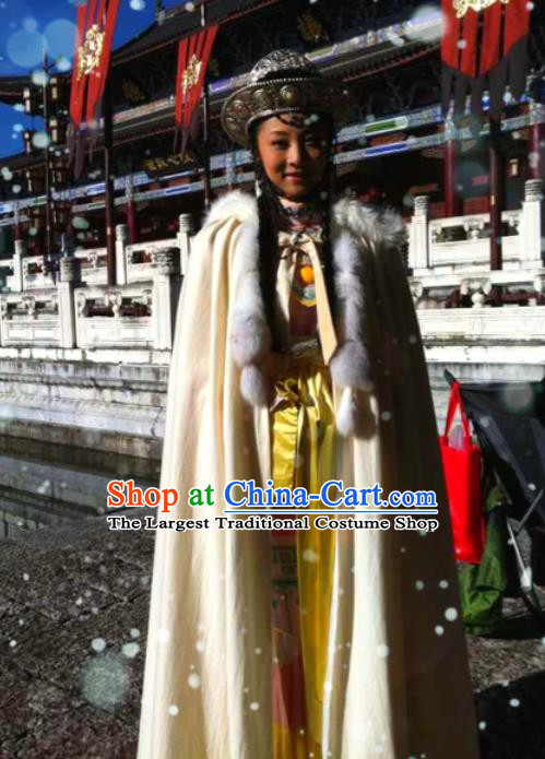 Chinese Ancient Consort A Zhao Apparels and Headpieces Drama Turbulence of the Mu Clan Costumes Garment