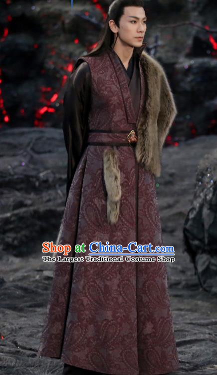 Chinese Ancient Demon Lord Garment Drama Sansheng Sanshi Pillow Eternal Love of Dream King Nie Chuyin Costumes