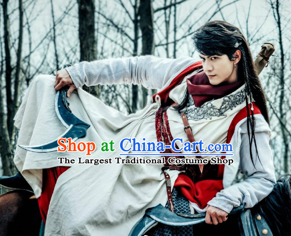 Chinese Ancient Young Knight Apparels Garment and Headwear Wuxia Drama The Lost Swordship Swordsman Yi Feng Costumes
