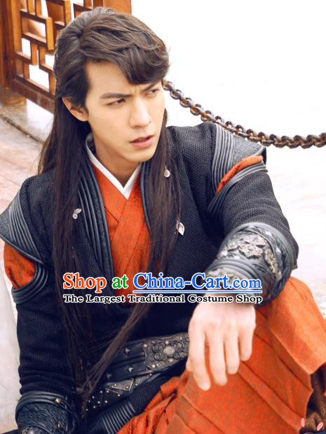 Chinese Ancient Swordsman Knight Apparels and Headwear Wuxia Drama The Lost Swordship Yi Feng Garment Costumes