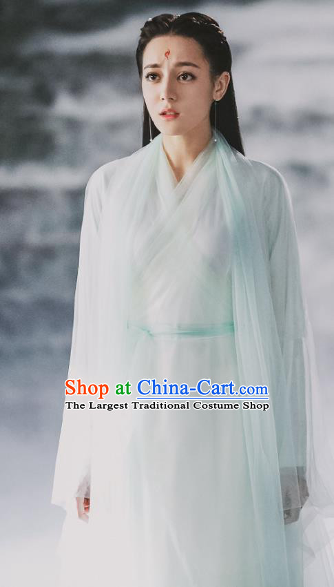 Chinese Ancient Fox Clan Goddess Garment Drama Eternal Love of Dream Female Immortal Bai Fengjiu Dress Costumes and Headwear
